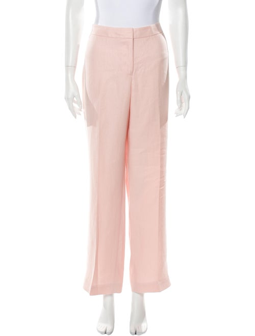 Lafayette 148 Linen Wide Leg Pants Pink