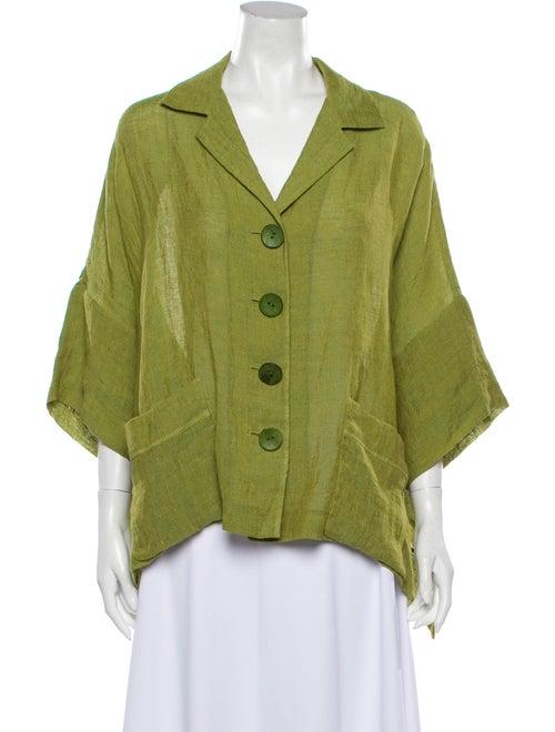 Lafayette 148 Linen Jacket Green