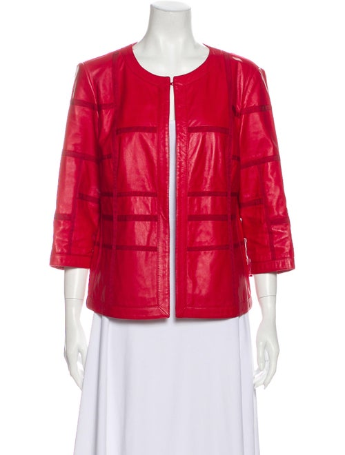 Lafayette 148 Leather Jacket Red