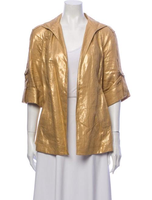 Lafayette 148 Linen Evening Jacket Gold