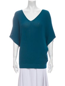 Lafayette 148 V-Neck Short Sleeve Top w/ Tags