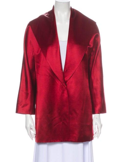 Lafayette 148 Silk Coat Red