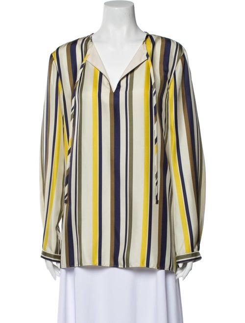 Lafayette 148 Silk Striped Blouse