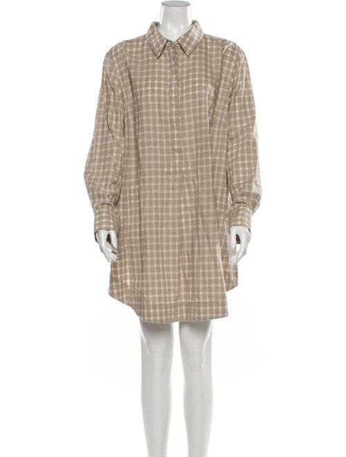 Lafayette 148 Plaid Print Mini Dress
