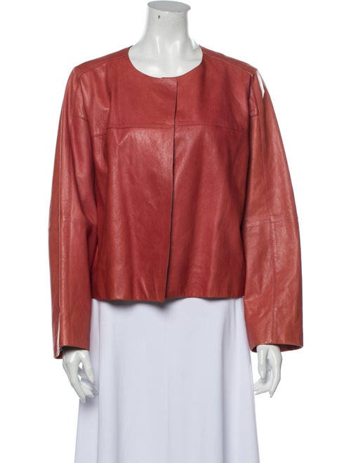 Lafayette 148 Leather Evening Jacket Orange