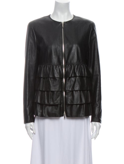 Lafayette 148 Leather Jacket Black
