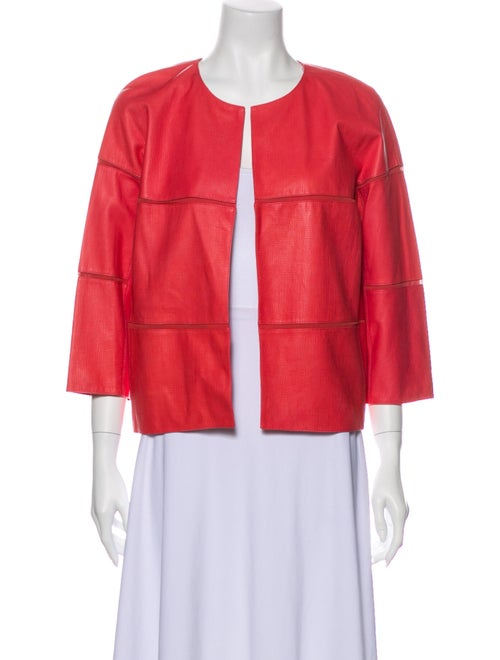 Lafayette 148 Leather Evening Jacket Pink