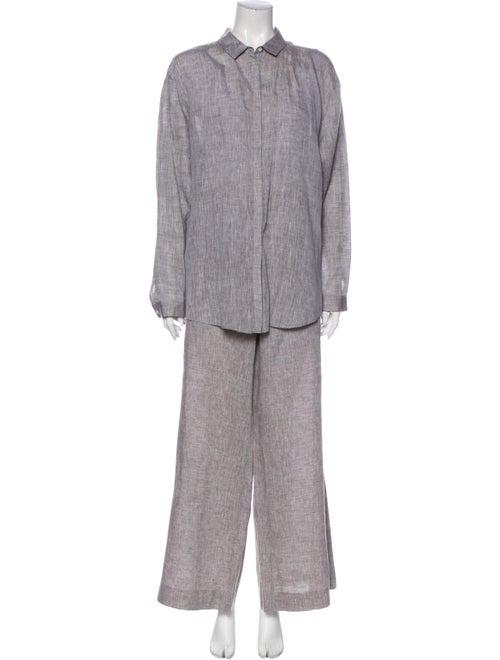 Lafayette 148 Linen Pant Set Grey