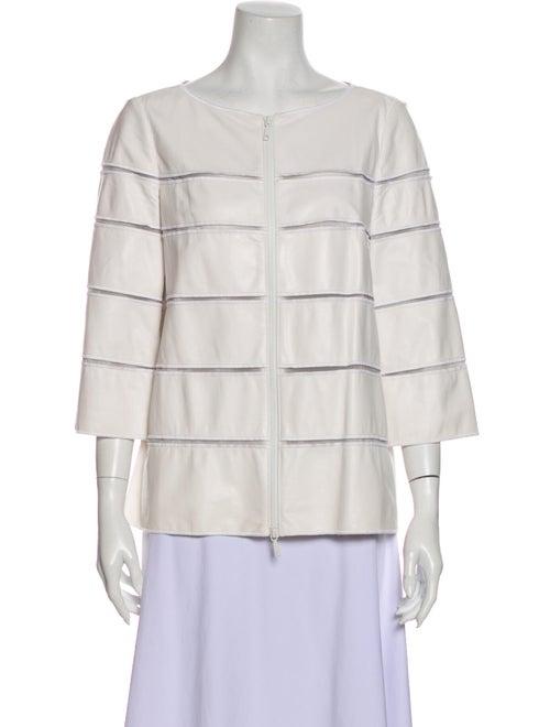 Lafayette 148 Leather Jacket White