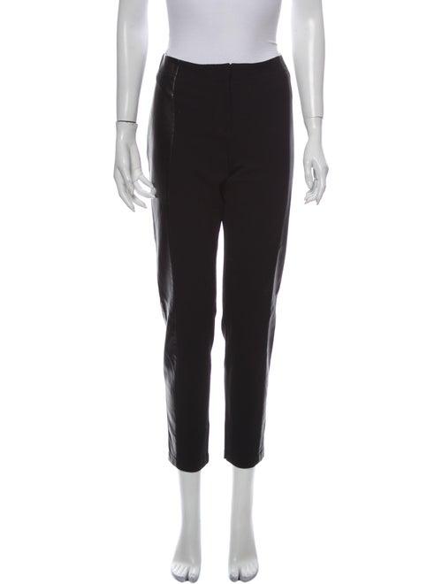 Lafayette 148 Leather Straight Leg Pants Black