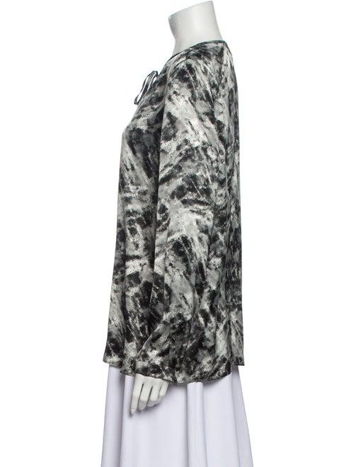 Lafayette 148 Silk Printed Blouse