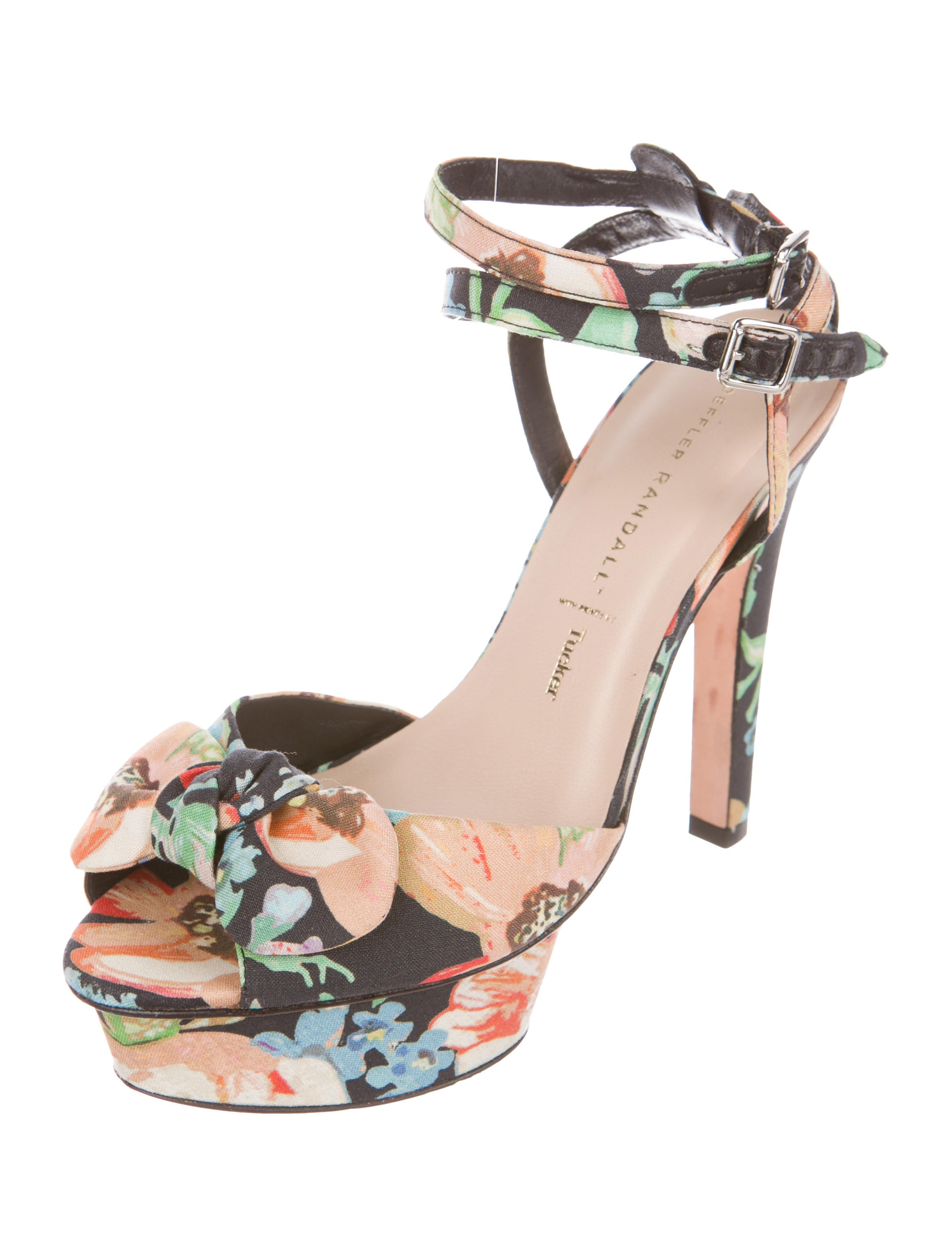 Loeffler Randall x Tucker Floral Platform Sandals cheap sale clearance store extremely online outlet good selling cheap price wholesale PKeNnrmFrQ