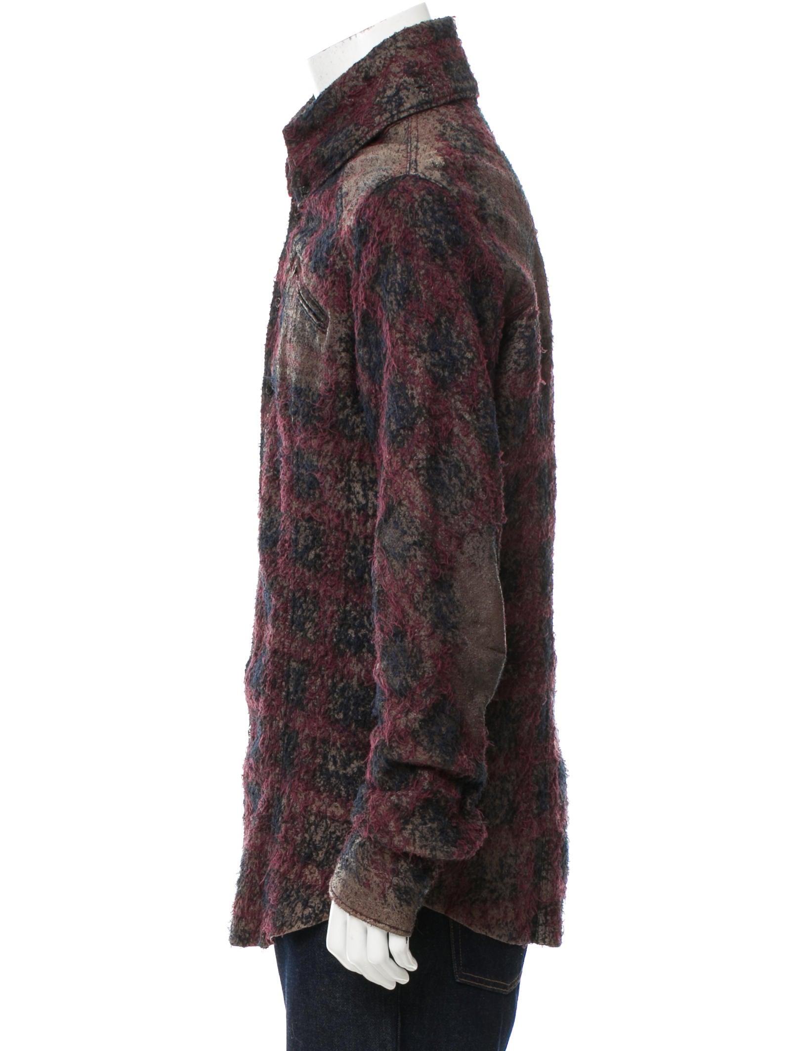 Lgb leather plaid lined shirt jacket clothing for Plaid shirt jacket mens