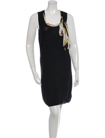 Love Moschino Tie-Accented Sleeveless Dress None