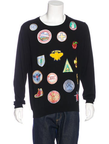 Love Moschino Patchwork Crew Neck Sweater None