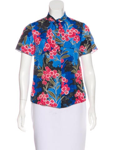 Love Moschino Floral Print Button-Up Top None