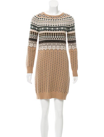 Love Moschino Patterned Sweater Dress None