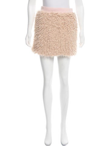 Love Moschino Faux Fur Mini Skirt w/ Tags None