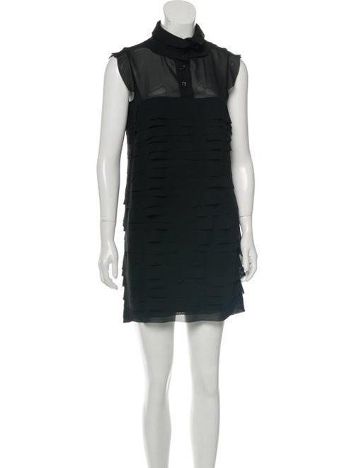 Love Moschino Ruffle-Trimmed Mini Dress Black
