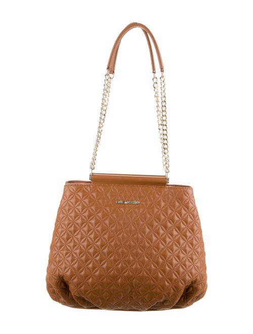 Love Moschino Quilted Leather Shoulder Bag Brown