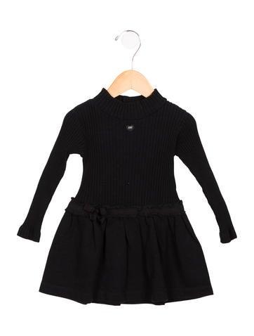 Lili Gaufrette Girls' Knit Grosgrain-Trimmed Dress None
