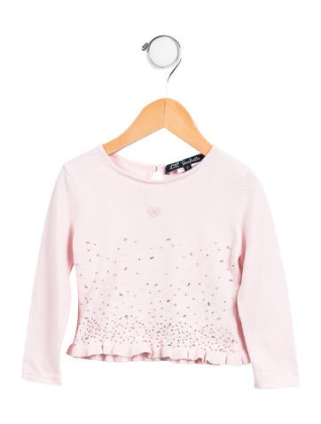 Lili Gaufrette Girls' Embellished Sweater None