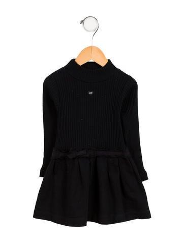 Lili Gaufrette Girls' Ribbed Long Sleeve Dress None