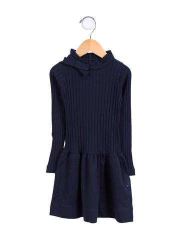 Lili Gaufrette Girls' Knit Mock Neck Dress None