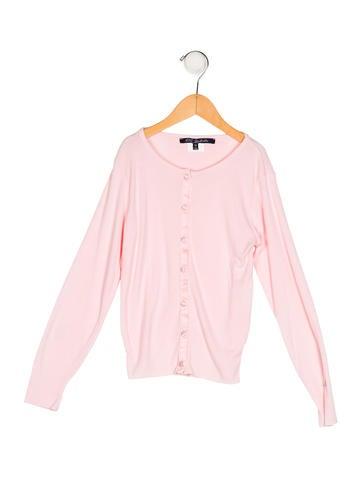 Lili Gaufrette Girls' Knit Button-Up Top None