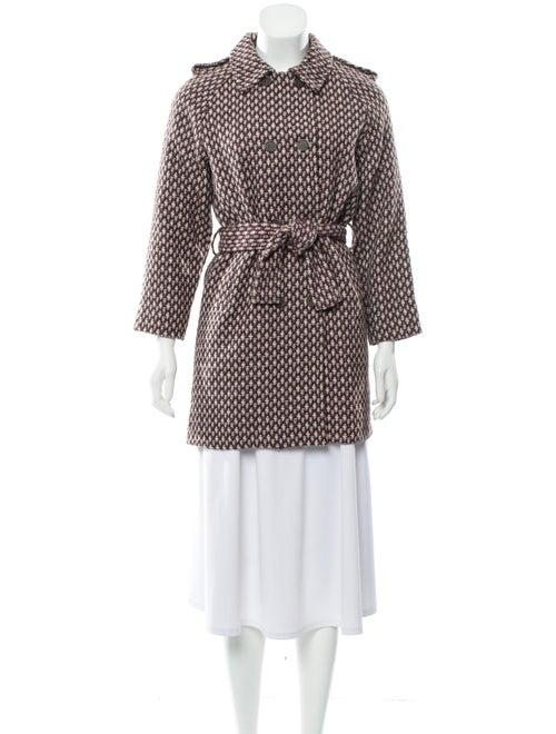 Liho Tweed Pattern Trench Coat w/ Tags Purple