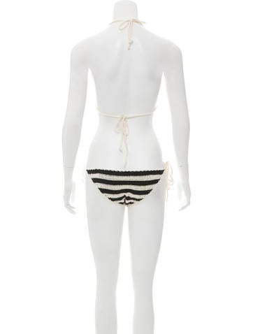 Crocheted Two-Piece Swimsuit w/ Tags