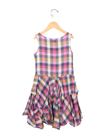 Girls' Plaid A-Line Dress