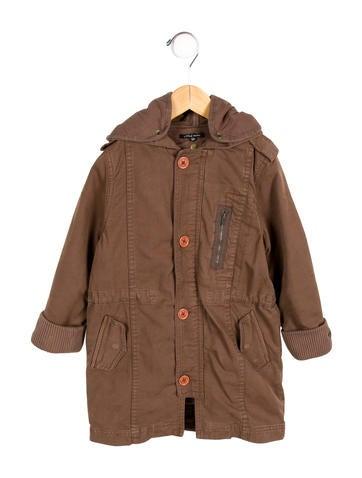 Little Marc Jacobs Girls' Hooded Coat None