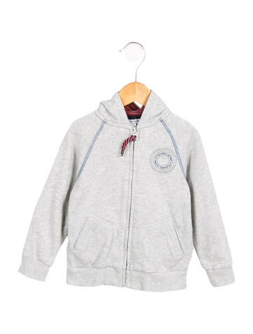 Little Marc Jacobs Boys' Hooded Zip-Up sweatshirt None