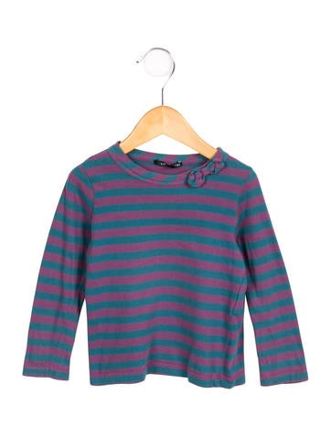 Little Marc Jacobs Striped Long Sleeve Top None