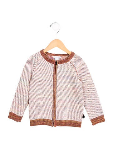 Little Marc Jacobs Girls' Knit Zip-Up Sweater None