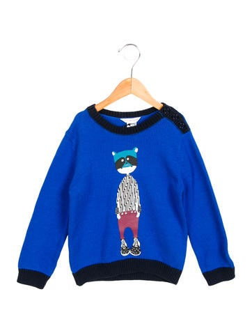 Little Marc Jacobs Boys' Printed Knit Sweater w/ Tags None