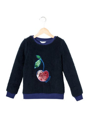 Little Marc Jacobs Girls' Textured Embellished Sweater w/ Tags None