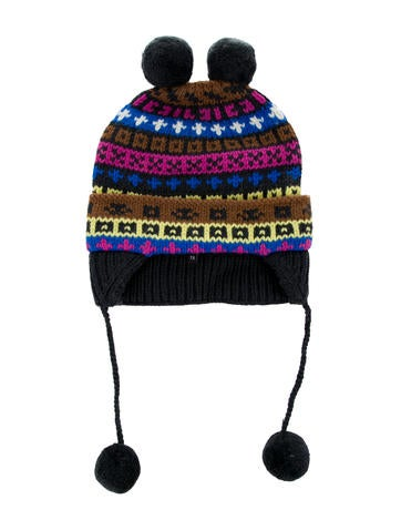 Little Marc Jacobs Girls' Wool Patterned Beanie w/ Tags None