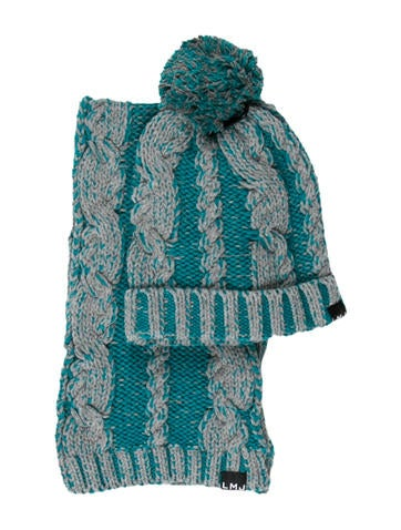Little Marc Jacobs Boys' Cable Knit Hat & Scarf Set w/ Tags None