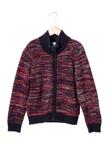 Little Marc Jacobs Boys' Tweed Zip-Up Sweater None