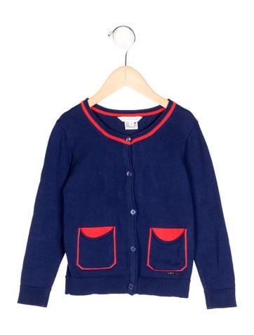 Little Marc Jacobs Girls' Rib Knit Long Sleeve Cardigan None