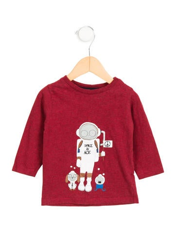 Little Marc Jacobs Boys' Long Sleeve Graphic Shirt None