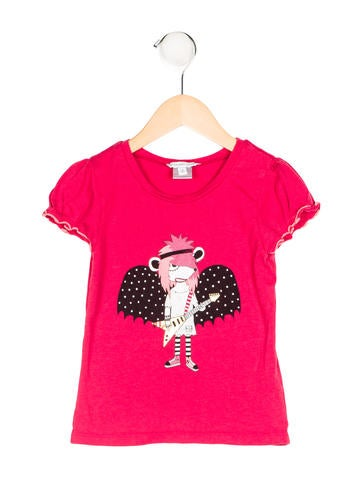 Little Marc Jacobs Girls' Printed Short Sleeve Top None