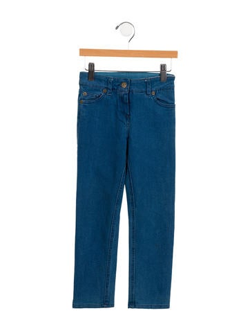 Little Marc Jacobs Girls' Straight-Leg Jeans None