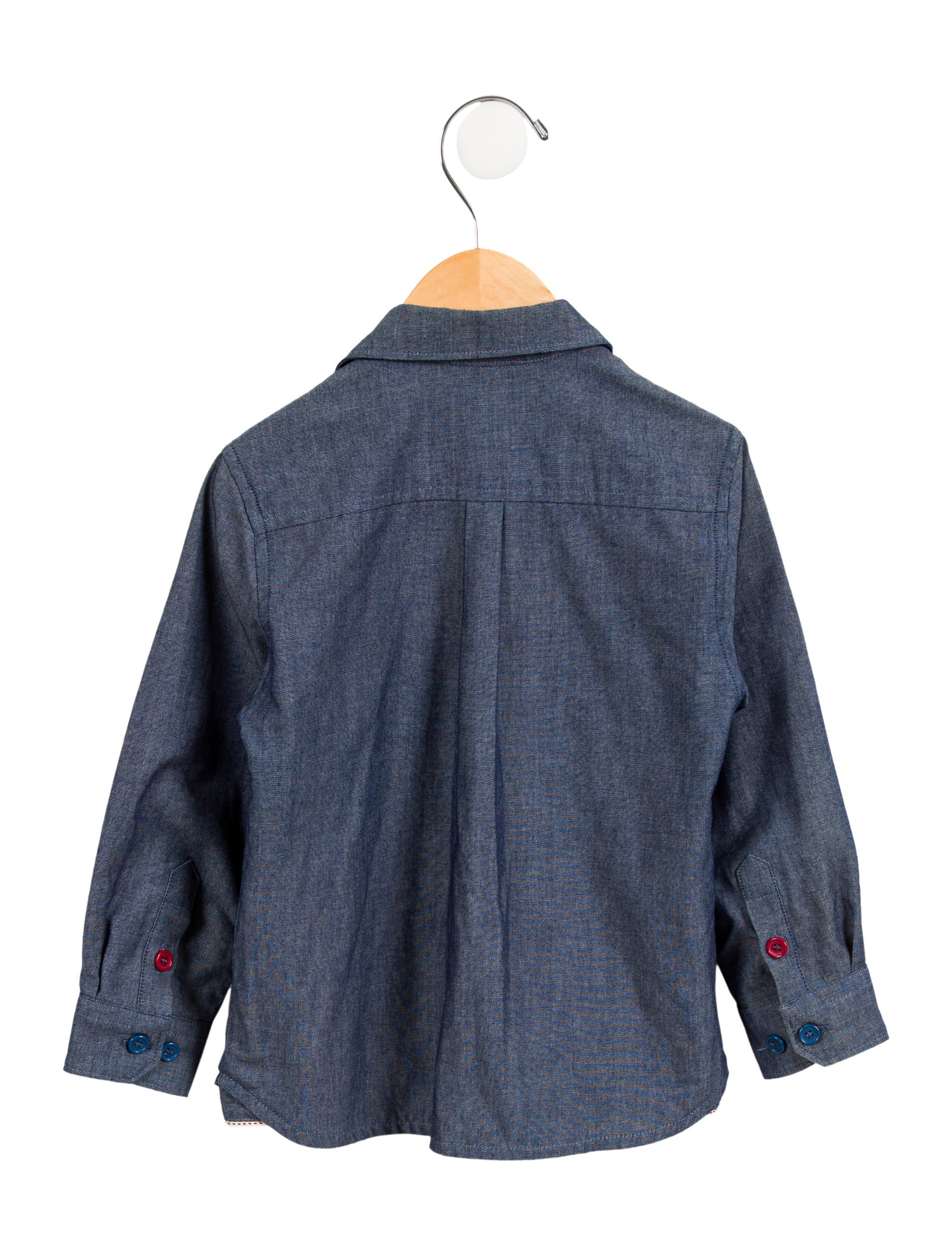 Little marc jacobs boys 39 chambray button up shirt boys for Chambray shirt for kids