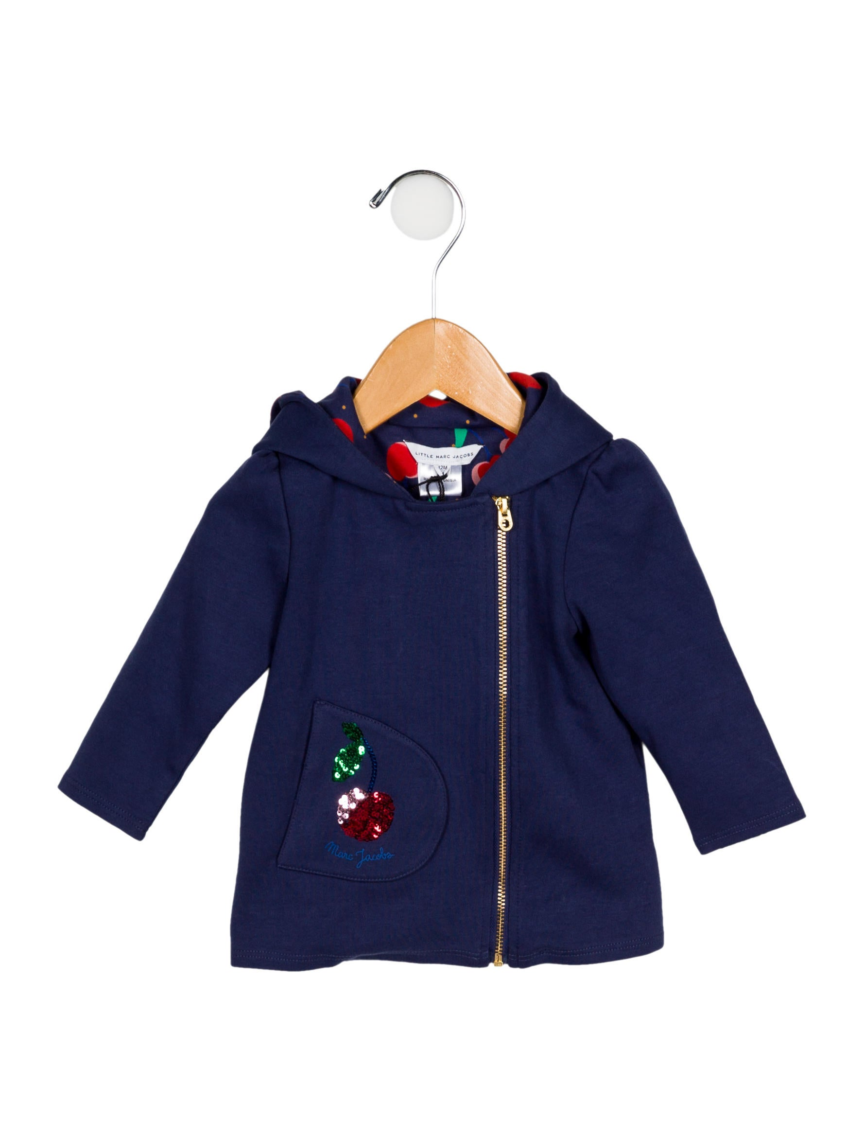 fa48f73142 Little Marc Jacobs Girls  Embellished Zip-Up Sweatshirt w  Tags ...
