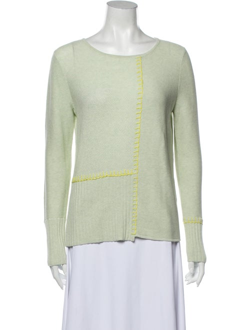 Lisa Todd Scoop Neck Sweater w/ Tags Green