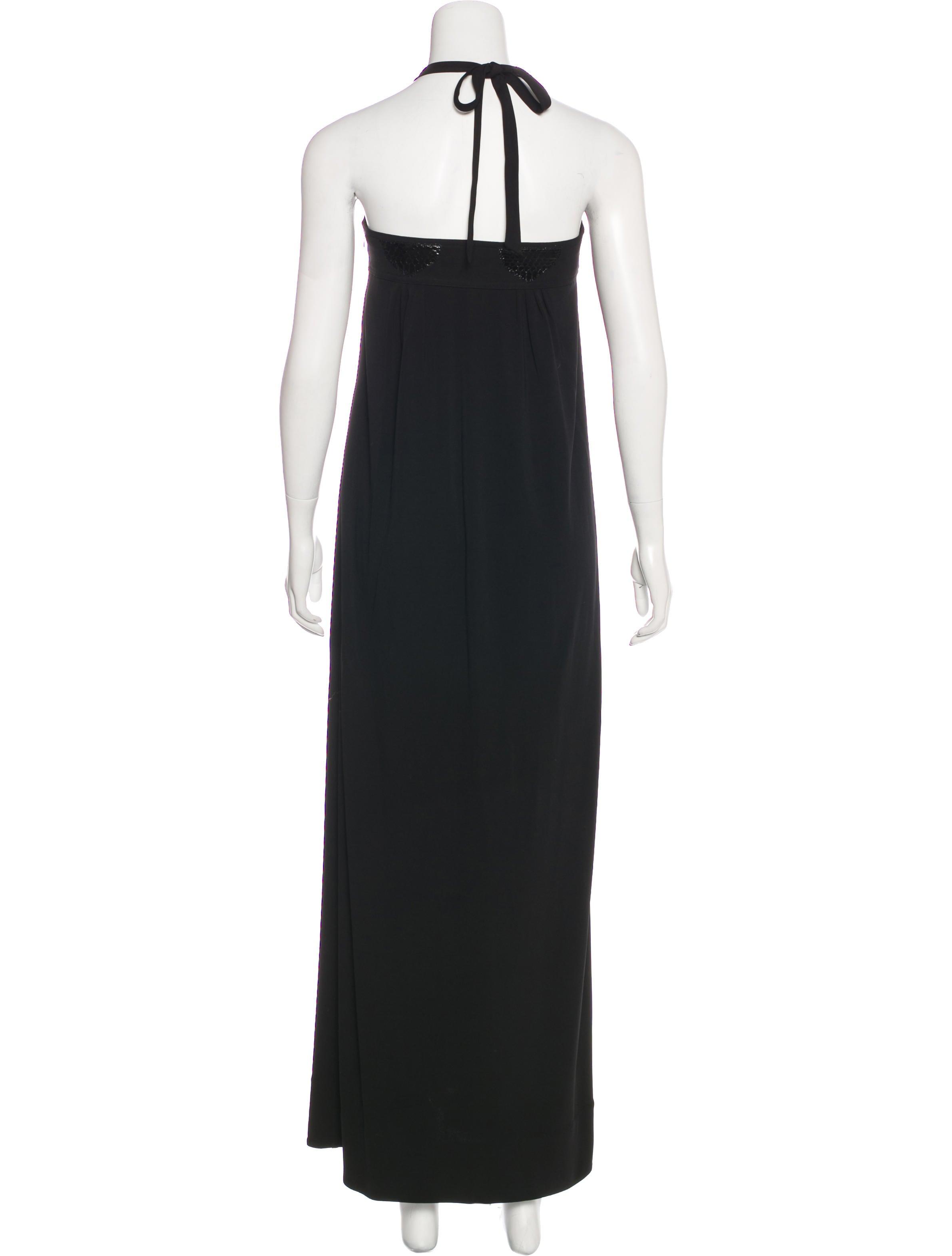Leifsdottir Leather-Trimmed Maxi Dress Cheap Find Great IKYXdCPp