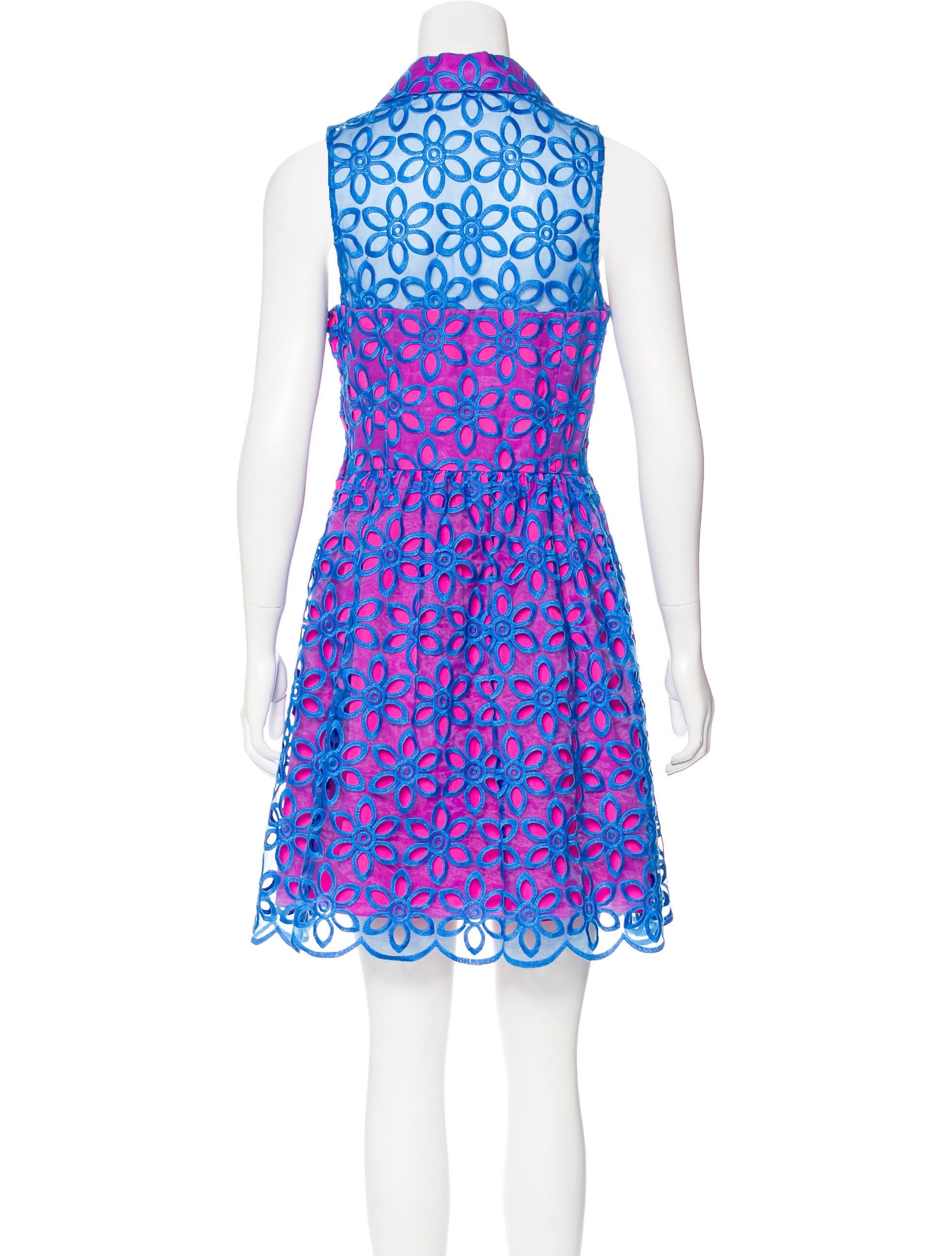 Lilly pulitzer floral embroidered mini dress clothing